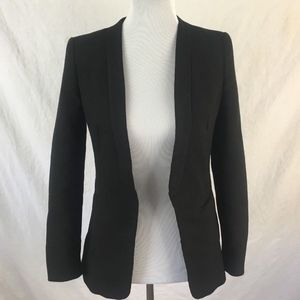 Zara Basic Women's Black Wool Blend Blazer Jacket